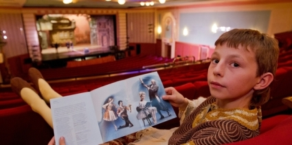 Tom Wilson, 10, is one of two local boys performing as extras for Coppelia (Glenn Taylor) 2014