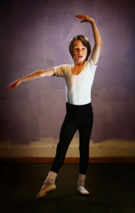 James Forster, 9, has been given a place with the Royal Ballet School (Sarah Caldecott) 2014