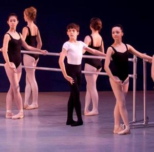 Ryan Ward, Indianapolis School of Ballet, Opening ballet class for Carnival of the Animals (Moonbug Photography) 2014b