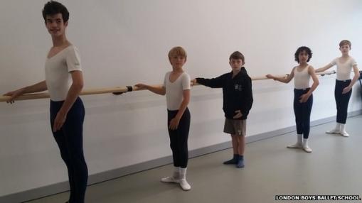 Boys at the barre (London Boys Ballet School) 2014