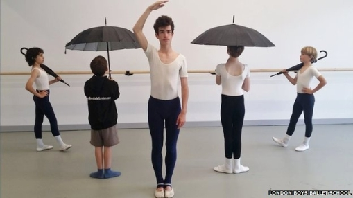 Boys at the London Boys Ballet School (London Boys Ballet School) 2014