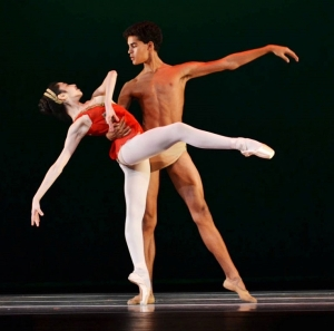 Gabriella Stilo and Francisco Serrano as Diana and Acteon,  Sarasota Cuban Ballet School  (Andres Acevedo)b