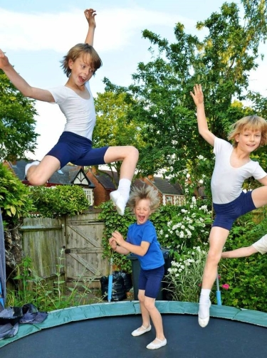Oscar,11, Arlie, 6, and Marlo, 8, Kempsey-Flagg (The Independent) 2014