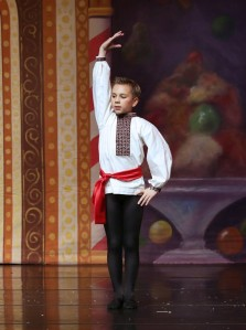 Holden Jones dancing the Russian in Studio Roxander's Nutcracker 2013 (Carmeci)