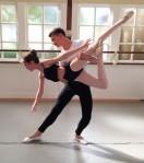 Amanda Mooney as Clara, and Cameron Surh, as the Prince, rehearse for the Napa Regional Dance Company's The Nutcracker (Napa Valley Register) 2014