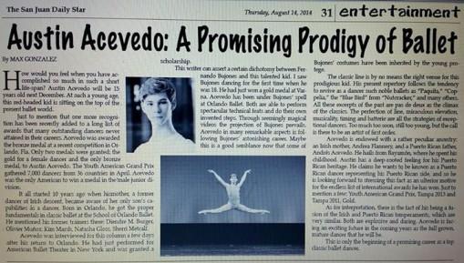 Austin Acevedo - A promising prodigy of ballet