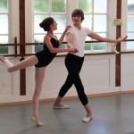 Emmett Moore, right, who dances the role of the Nutcracker, rehearses with Amanda Mooney (Napa Valley Register) 2014