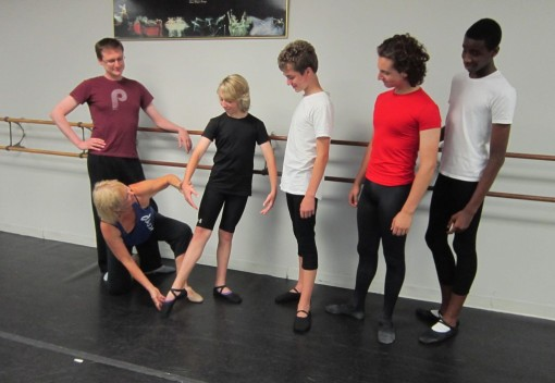 JoJean Retrum teaching the Boys' class at Monona Academy of Dance (JoJean Retrum) 2014