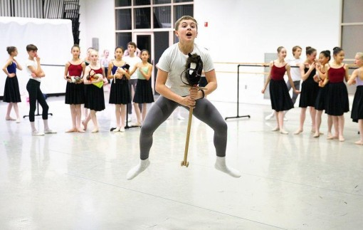 Noah Parets, 15, of Sharon rehearses for his role as Fritz in Boston Ballet's performance of The Nutcracker(Garry Higgins, The Patriot Ledger) 2014