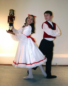Noah Sych and Jayla Coco will dance the roles of Fritz and Clara in Ballet Virginia International's Nutcracker (Joe Coco) 2014