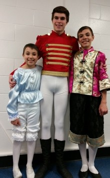 Orlando, 9; Victor, 16; and Lorenza, 13, all have roles in The Nutcracker. Their parents also work in the production