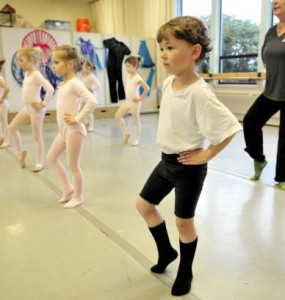 London Boardman, 5, front, a student at Pacific School of Dance (Amanda Loman, The World) 2015