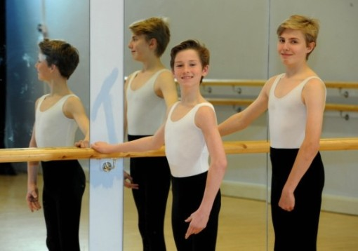 Ballet dancers Hugh O'Sullivan (left) and Lewis Heath (Paul Jacobs)