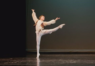 Dylan Calahan, 11, in Michigan Ballet Academy's Spring Aires performance (Jules K Photography) 2015