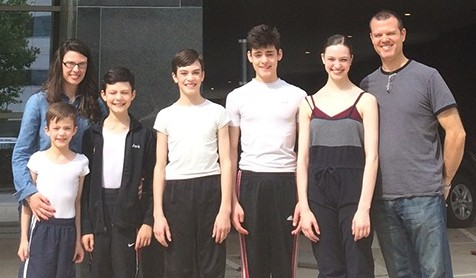 Five of the seven children in the Westerman family are at Houston Ballet Laura Westerman, Matthew, (8); Jack, (10); Patrick, (13); Luke, (14); Claire, (15); Matt Westerman 2015