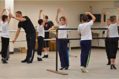 Metropolitan Ballet Company Boys' Scholarship Dance Program  students with MBC faculty member, Sergey Pupyrev 02
