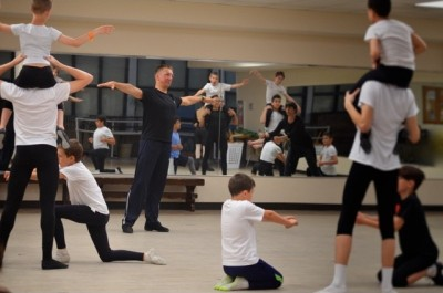 Metropolitan Ballet Company Boys' Scholarship Dance Program  students with MBC faculty member, Sergey Pupyrev