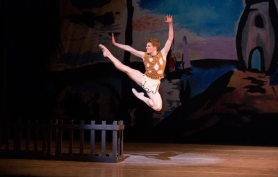 Pennsylvania Ballet's Soloist Alexander Peters in George Balanchine's Prodigal Son (Alexander Iziliaev)