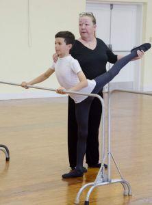 Ravi Watson with his dance teacher Coral Waddell. ( Mark Tatem, The Royal Gazette) 2015