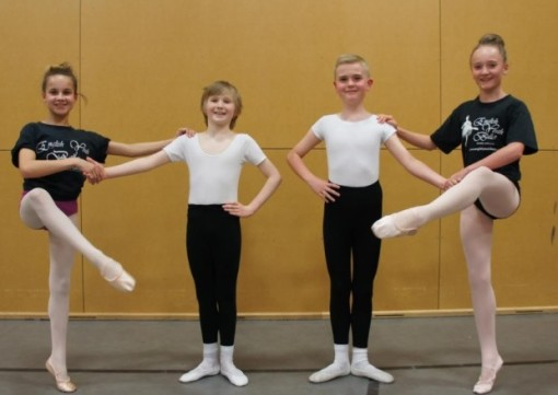 Alicia Patnelli, 12, Rowan Lightwood, 10, Troy Tipple, 11,  and Bethany Raine, 11 have been chosen to dance in the EYB's  Giselle (Morley Observer) 2015