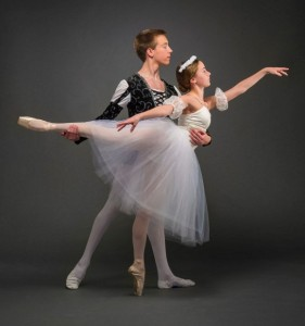 Bangor Ballet dancers Zach Williams and Devin Hagerty  show off their graceful form in preparation for the Bangor Ballet 19th-century classical ballets, Les Sylphides and Coppelia (Michael Hallahan) 2015