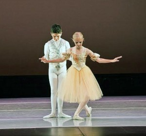 Jedidiah Harwood, left, and Olivia Miller dance the Pas de Trois in the Conservatory of Classical Ballet's production of Swan Lake (Kerri Hamilton)