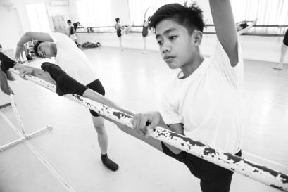 John Edmar Semera, 14, practises at the De La Salle Santiago Zobel School