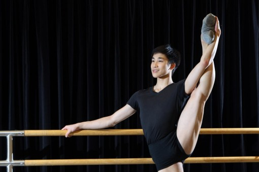 Lam Chun-wing, at the Jean M. Wong School of Ballet in North Point (Franke Tsang)