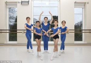 Annually, more than 1,000 youngsters vie for only two dozen places at the Royal Ballet School (Lucy Ray Photography,The Daily Mail) 2015