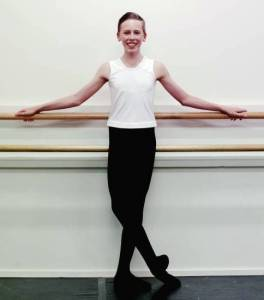 Benjamin Anderson, 13, is ready to make his mark on the Australian ballet scene (Darren Pateman) 2016