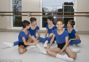 Boys sandwich four hours of ballet practice a day on either side of their academic studies (Lucy Ray Photography,The Daily Mail) 2015