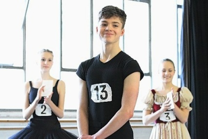 Harris Beattie, 16, at the Phyllis Bedells Bursary Competition 2015