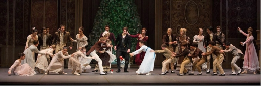 Koa Chun, far right, as Fritz in Boston Ballet's Nutcracker (Rosalie O'Connor, Boston Ballet) 2015