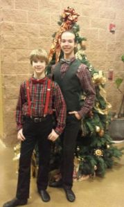 Quinton and Ian Brooks at the Austin Metamorphis Dance Ensemble's Nutcracker (Danceworks Unlimited) 2015