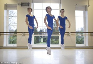 Stanley Young, 12, Sacha Barber, 12, and Issac Martin, 13, the Royal Ballet School (Lucy Ray Photography,The Daily Mail) 2015-03