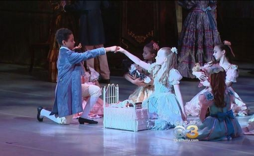 Zy'ear Irving, 11, a student at the Pennsylvania School of Ballet dancing in the Nutcracker(CBS Philly) 2015