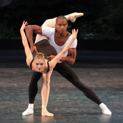 Carla Körbes and Eric Underwood in Agon. ( Erin Baiano for The New York Times ) 2012
