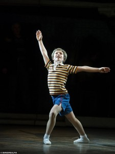 Euan Garrett, 12, on stage as Billy Elliot (SWNS - RealFix) 2015