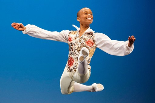 Leroy Mokgatle from South Africa performs his classical variation to win the audience prize as well as the 4th prize during the final of the 44th Prix de Lausanne (Valentin Flauraud, EPA) 2016