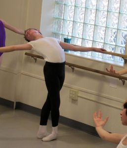 David O'Matz, 15, warming up at the barre, Ballet Academy of Pittsburgh (Marcus Charleston, 90.5 WESA) 2016_resized