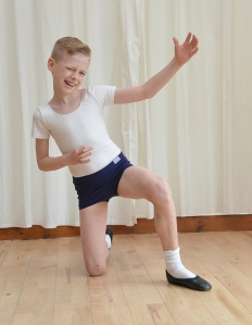 Evan Patterson from Dunbar, East Lothian, Scotland, finishes his routine by playing an air guitar (Jon Savage, The Telegraph) 2016-02