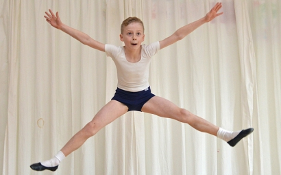 Evan Patterson from Dunbar, East Lothian, Scotland, goes through his ballet routine (Jon Savage, The Telegraph) 2016-01