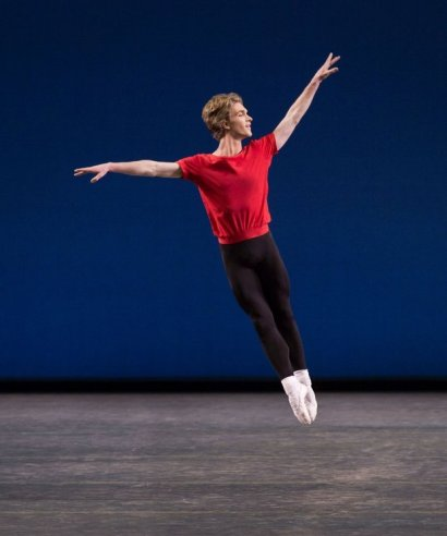 "Harrison Ball performs in ""Interplay,"" which was choreographed by Jerome Robbins for the New York City Ballet (Paul Kolnik )"